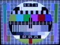 星期二的下午,电视测试信号画面