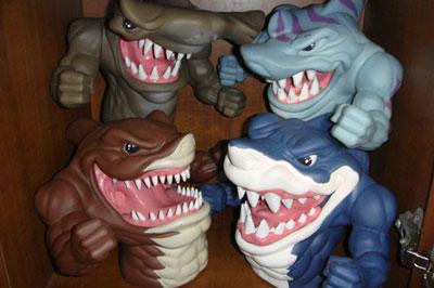 街头鲨鱼的玩具