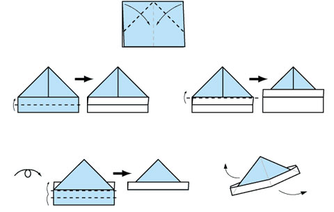 折纸帽子图解