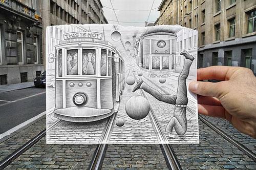 铅笔画vs相片